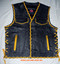 Mens Leather Vest Braided Style MLVB1300 Two Color