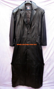 Leather Trench Coat Undertaker Style MTC666 Custom Made Available In 8 Colors