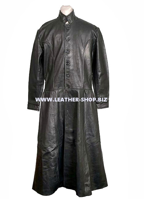 Leather Trench Coat Style MTC556 Custom Made Available In 9 Colors