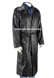 Leather Trench Coat Style MTC701 Custom Made Available In 9 Colors