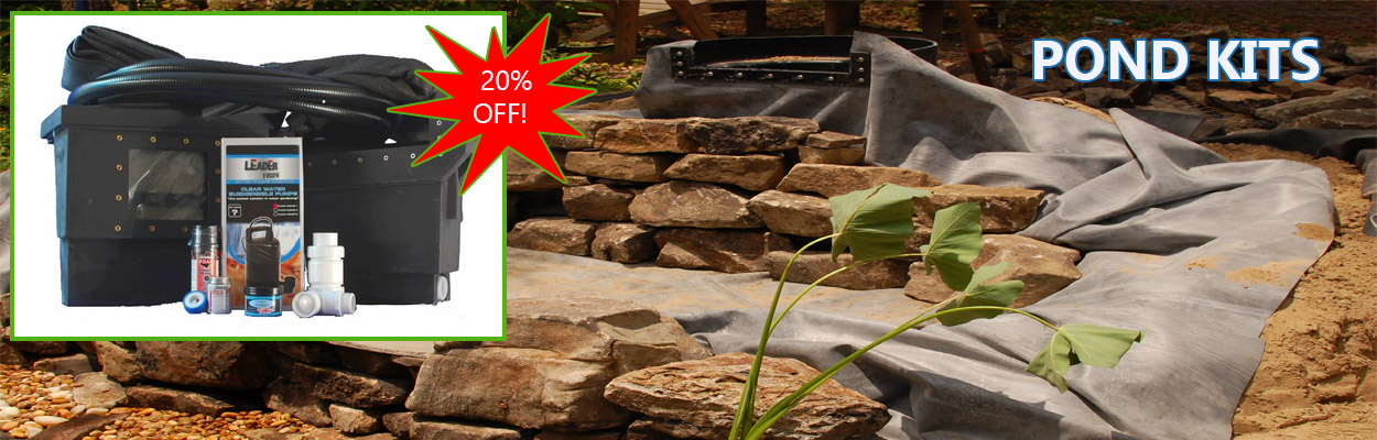 pond kits 20% off and free shipping
