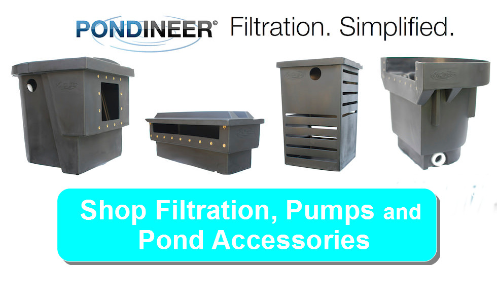 pondineer filtration, pumps and pond accessories