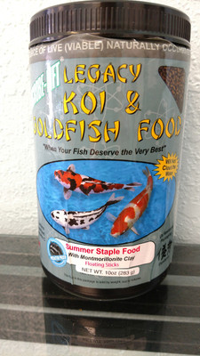 Legacy Koi & Goldfish Fish Food - Summer Staple Food with Montmorillonite Clay