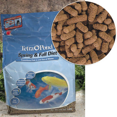 Great fish food for transitioning Koi Fish in and out of winter