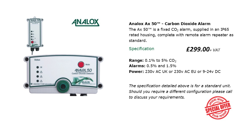 Analox AX50 CO2 monitor