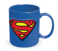 Superman Embossed Logo Blue 20 oz. Ceramic Mug