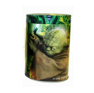 Star Wars Yoda Jedi Master Round Tin Coin Can Bank