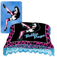 Bettie Page Throw Pillow