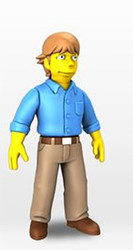 Simpsons 5-Inch Celebrity Guest Series 2 Mark Hamill Action Figure