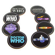 Doctor Who Logo Coasters Set of 8