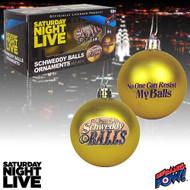Saturday Night Live Schweddy Balls Christmas Ornaments - Set of 2