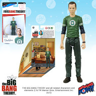 The Big Bang Theory Sheldon Green Lantern T-Shirt 3 3/4-Inch Figure