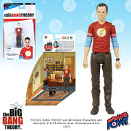 The Big Bang Theory Sheldon The Flash T-Shirt 3 3/4-Inch Figure