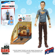 The Big Bang Theory Sheldon Superman T-Shirt 3 3/4-Inch Figure