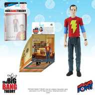 The Big Bang Theory Sheldon in Shazam T-Shirt 3 3/4-Inch Action Figure