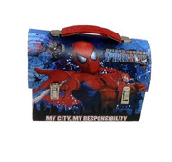 Spider-Man Slinging Large Workman Carry All Tin Lunch Box