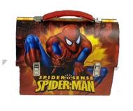 Spider-Man Pointing Large Workman Carry All Tin Lunch Box