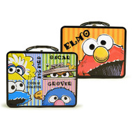 Sesame Street Elmo And Friends Embossed Carry All Tin Lunch Box