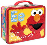 Sesame Street Elmo Embossed Carry All Tin Lunch Box