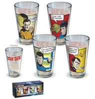 Star Trek Character Quotes Pint Glass 4-pack