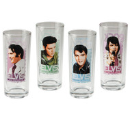 Elvis Presley King of Rock and Roll 10-ounce Glasses 4-Pack