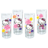 Hello Kitty Glasses 10-Ounce 4-Pack