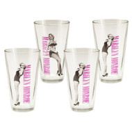 Marilyn Monroe 16-Ounce Glasses 4-Pack