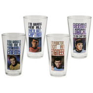 Star Trek Original Series 16-Ounce Glasses 4-Pack