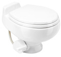 Sealand 506 Series Vacuflush toilet in White. Low profile design allows for installation in boats where the toilet sits on an elevated platform. This toilet will work with a Vacuum Generator or a seperate Vacuum Tank and Vacuum Pump.