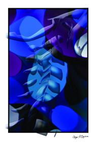Blue Lateral Cervical Poster
