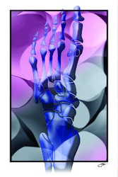Foot Art poster Purple