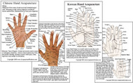 Chinese & Korean Hand Acupuncture Cards