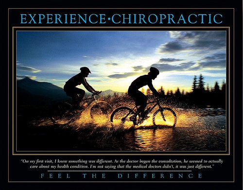 Feel the difference Chiropractic poster
