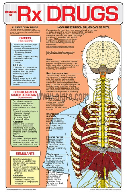 Dangers Of Prescription Drugs Poster Clinical Charts And
