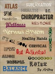 Chiropractic Words Poster