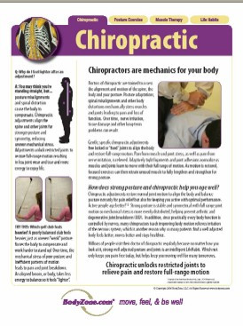 Chiropractic Adjustment Poster