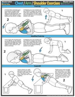 Children Chest - Arm - Shoulder Exercise Poster