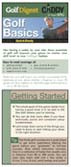 Golf Basics - Pocket Reference Guide