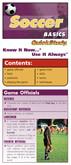 Soccer Basics - Pocket Reference Guide
