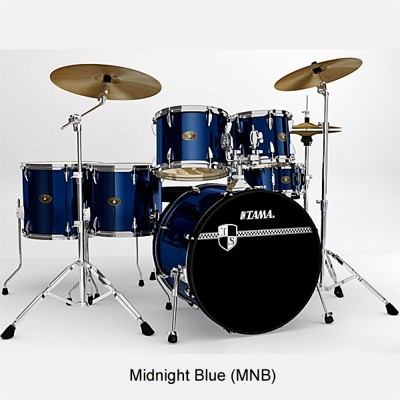 Tama Imperialstar 6-Piece Drum Set with Cymbals Midnight Blue Package