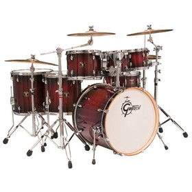 "Gretsch Drums Catalina Maple 6-Piece Shell Pack with free 8"" Tom Satin Deep Cherry Burst"