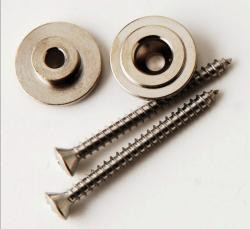 PRS GUITARS PAUL REED SMITH STRAP BUTTONS with SCREWS in NICKEL ACC-4217