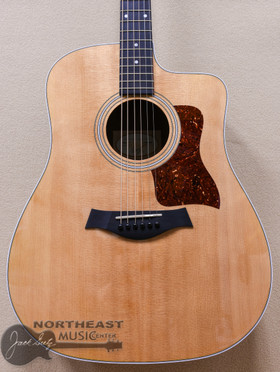 Taylor 210ce Dreadnought Acoustic-Electric Guitar Natural w/ hard bag (210CE)
