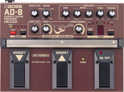 Boss AD-8 Acoustic Guitar Multi Effects Pedal