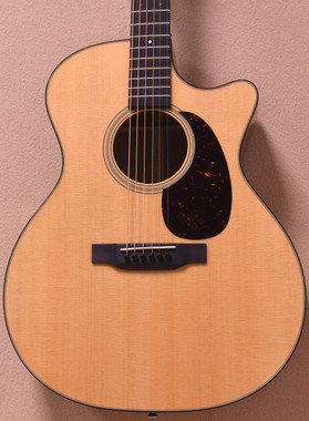 Front view of the Martin GPC-18E Acoustic Electric Guitar w/ Aura VT Enhance System