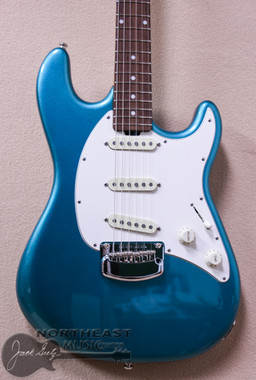 Ernie Ball Music Man Cutlass Electric Guitar in Vintage Turquoise (EBMMCUTLASSVTURQ)