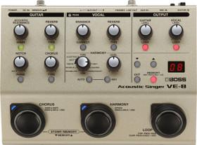 Boss VE-8 Acoustic Singer Multi Effects Pedal