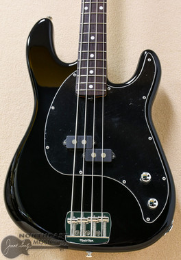 Ernie Ball Music Man Cutlass Rosewood Fretboard Electric Bass Guitar in Black (EBMMSRBBK)