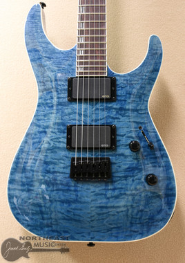 ESP/LTD H-401QM Quilted Maple in Faded Sky Blue