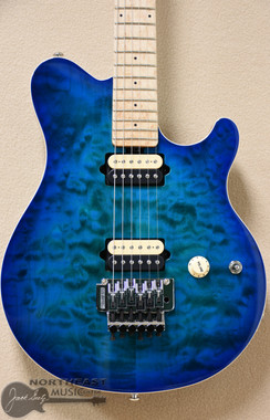 Ernie Ball Music Man Axis in Balboa Blue Burst Quilt